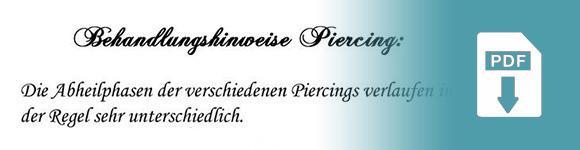 Piercingpflege